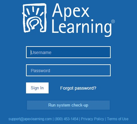 Apexvs Learning Login Guide