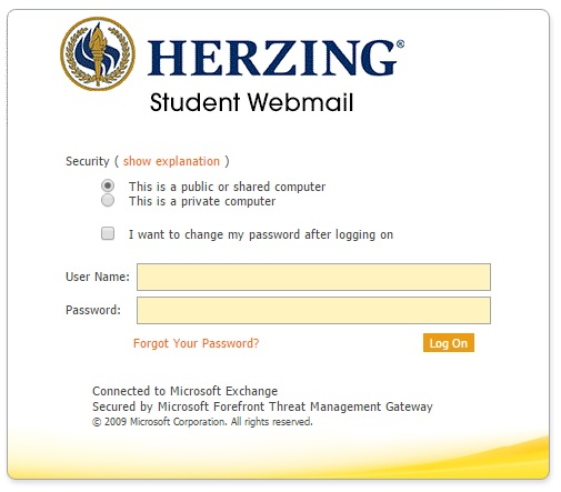 If you encounter problems with Herzing Blackboard, make sure to check your student email.