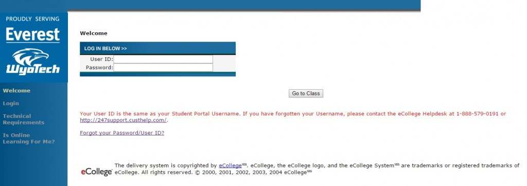 OnlineCCI Login Guide. All students enrolled at the Everest University can log in to the OnlineCCI portal.