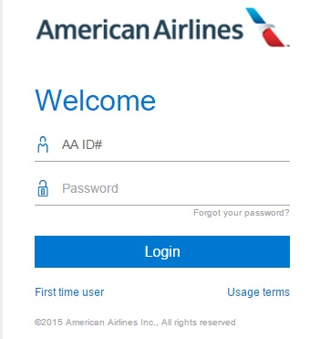 AA Jetnet login form