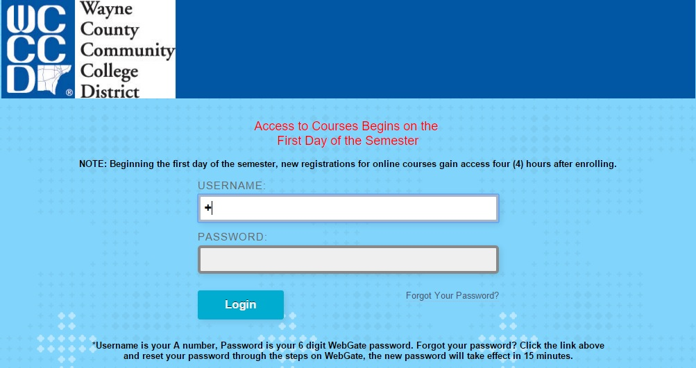 WCCCD Blackboard Login Guide