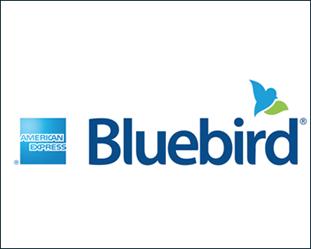 Bluebird American Express Logo