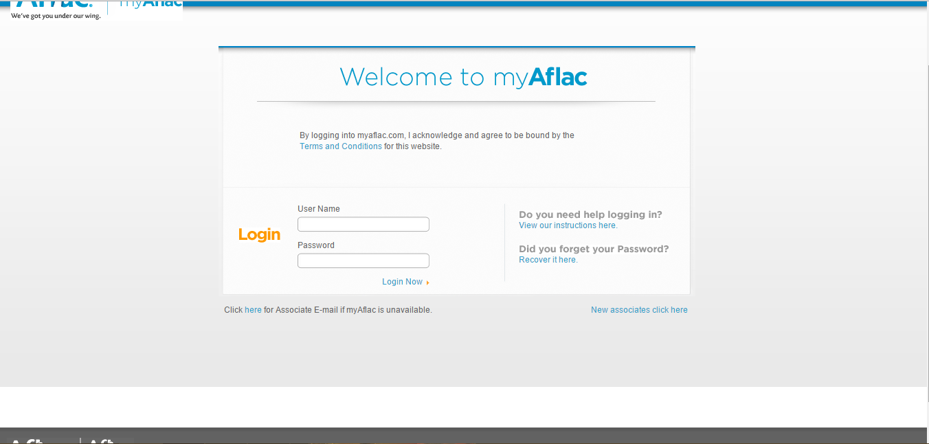 Aflac Agent Login Page my.aflac.com