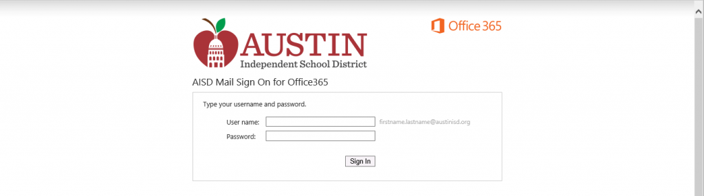 Austin ISD Webmail Login Guide Page