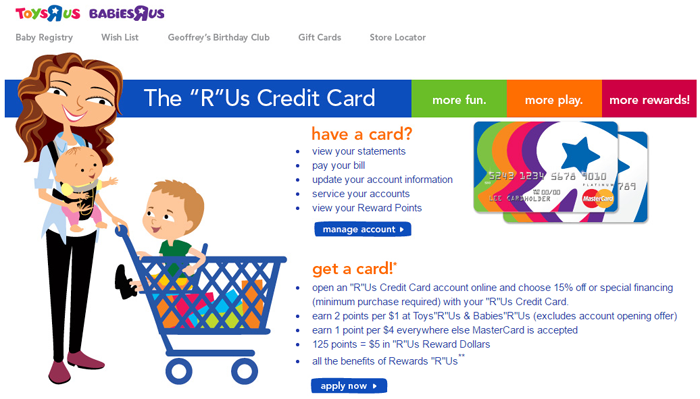 Toys R Us Credit Card Login Page