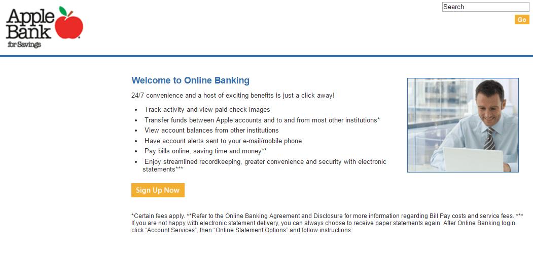 apple bank login create new account