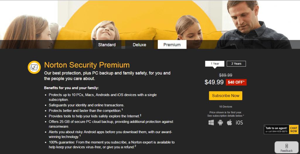Norton account login security premium