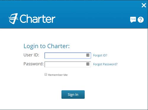 Charter Bresnan login page.