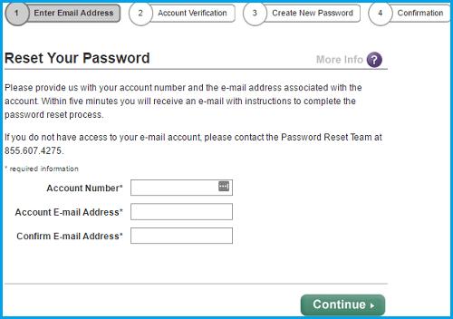 Scottrade login password page screenshot.