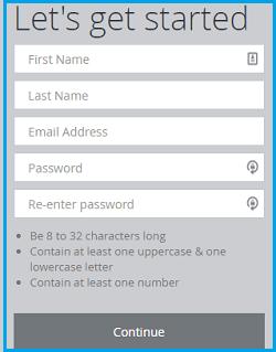 Scottrade login password page account registration screenshot.