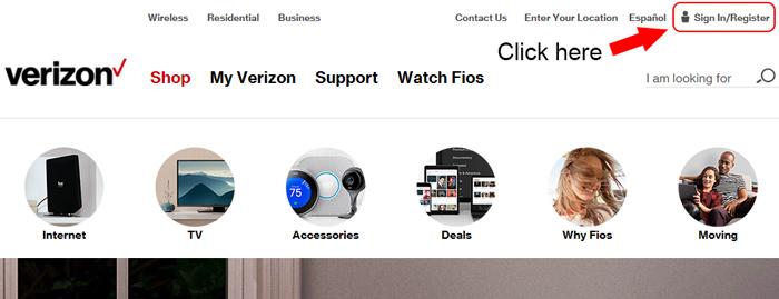 verizon homepage sign in