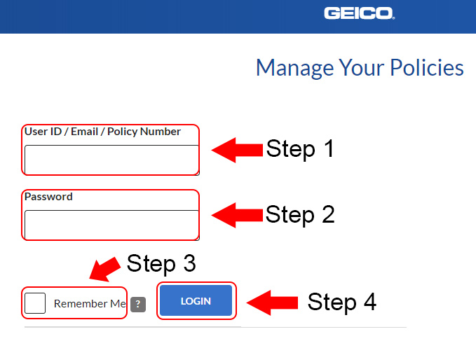 geico account login