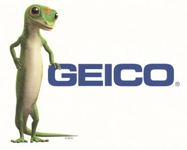 geico illustrated logo with a lizard