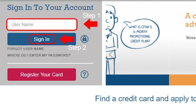 credit first national association website login