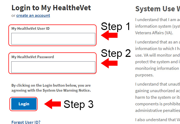 my healthevet login