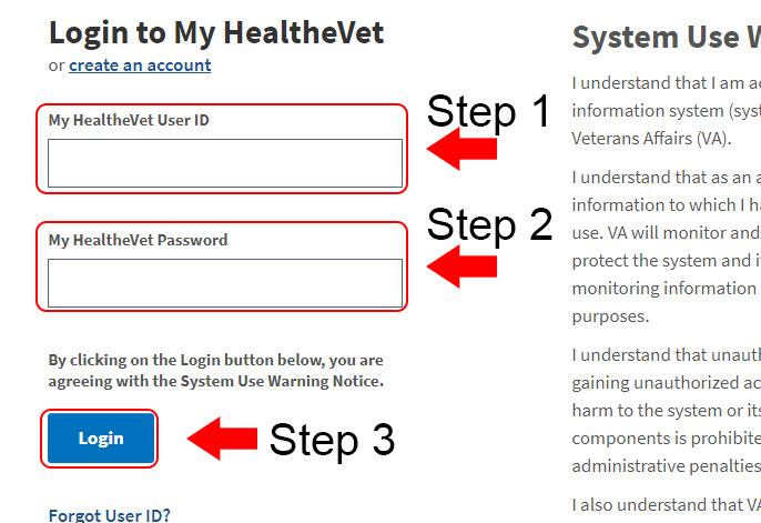 My HealtheVet Login Guide at myhealth.va.gov | Login OZ