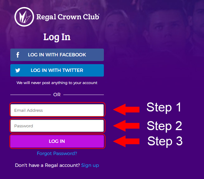 regal crown club member login