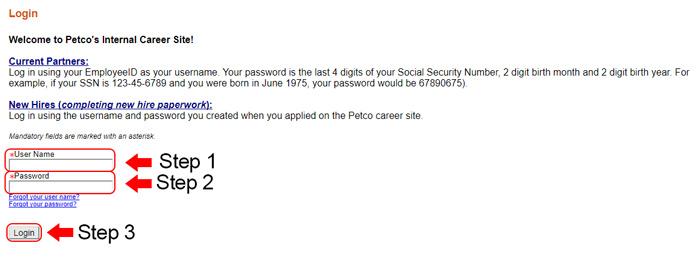 petco career center login