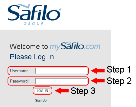safilo account login