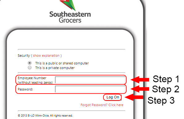 southeastern grocers employee login