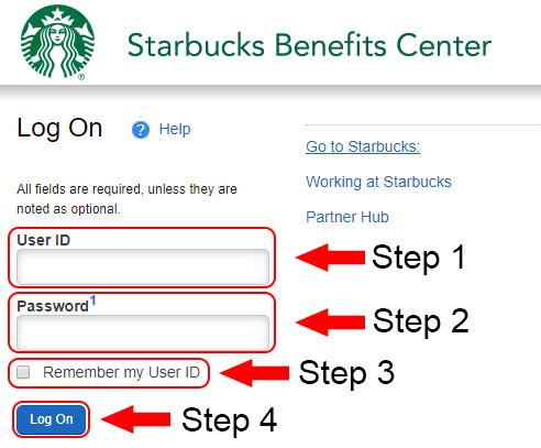 Starbucks Benefits Portal Login Guide at portal hewitt com