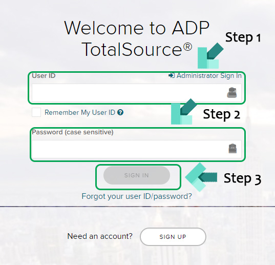 adp website login page