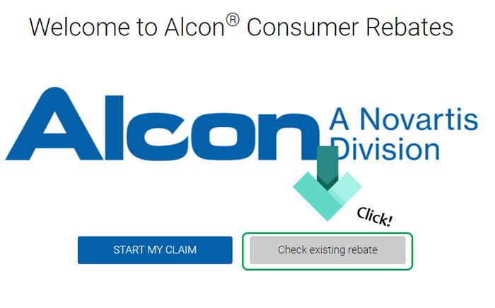 alcon rebates landing page