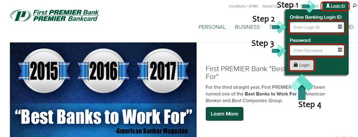 first premier login page
