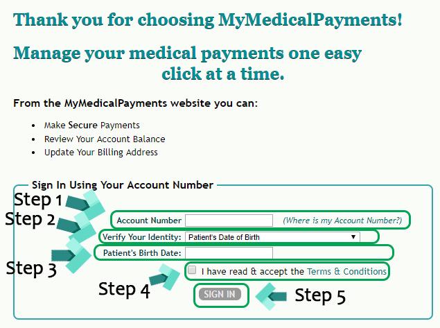mymedicalpayments login page