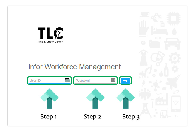 time and labour center landing page