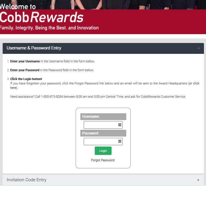 Cobbs Reward Program Online