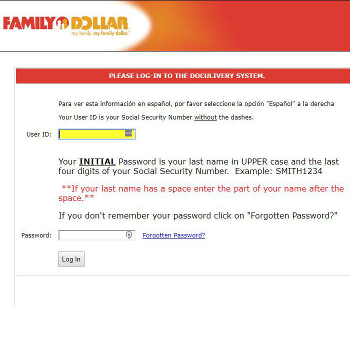 Family Dollar Life Portal Login at www familydollar com | Login OZ