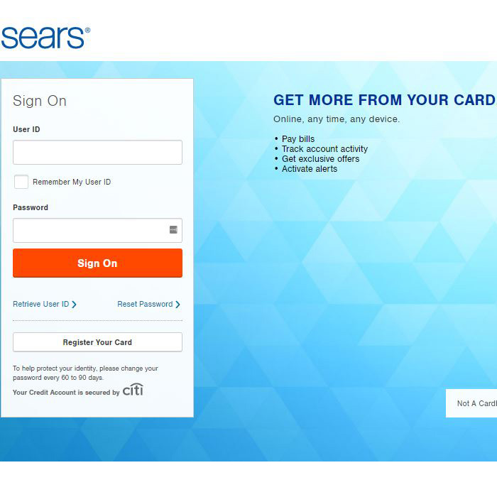 Sears Card Login